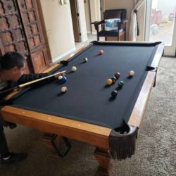 Wood Pool Table (SOLD)